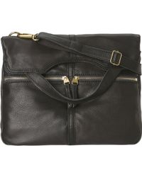 Fossil Black Erin Tote - Lyst