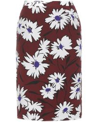 Nina Ricci Floral Silk Skirt - Lyst