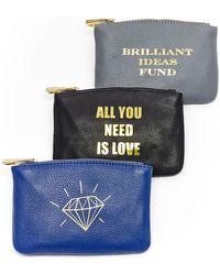 hayden-harnett Brilliant Ideas Fund Leather Pouch - Lyst
