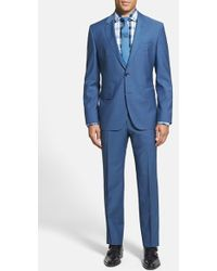 Boss by Hugo Boss 'Johnston/Lenon' Trim Fit Wool & Mohair Suit - Lyst