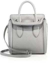 Alexander McQueen | Heroine Small Saffiano Leather Satchel | Lyst