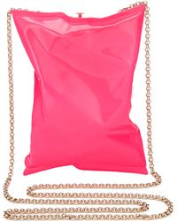 Anya Hindmarch Neon Pink Crisp Packet Clutch - Lyst