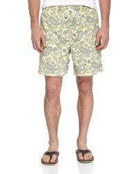 Tailor Vintage Reversible Solidpaisley Swim Shorts - Lyst