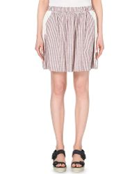 See By Chloé Embroidered Cotton Skirt - For Women pink - Lyst