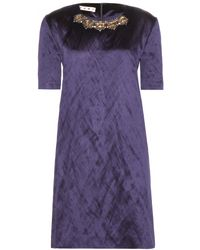 Marni Embellished Satin Dress - Lyst