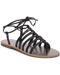 Lucky Brand - Colette Strappy Leather Sandals - Lyst