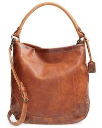 Frye 'Melissa' Washed Leather Hobo - Lyst