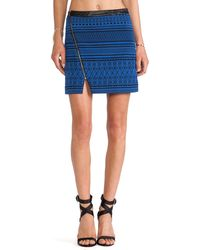 Sanctuary Blue Zip Mini - Lyst