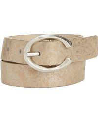 Nine West - Metallic Washed Belt - Lyst