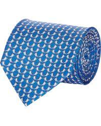 Ferragamo Blue Bird-print Tie - Lyst