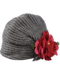 Manoush | Flower Applique Wool-Blend Hat | Lyst