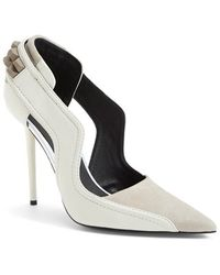 L.A.M.B. - 'enforce' Leather & Suede Pointy Toe Pump - Lyst