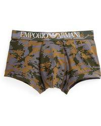 Emporio Armani Camo Stretch Cotton Boxer Briefs - Lyst