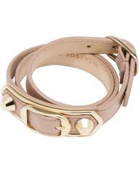 Balenciaga - Holiday Collection Classic Metallic Edge Bracelet Triple Tour - Lyst