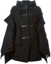 Junya Watanabe Patchwork Design Oversized Duffle Coa - Lyst