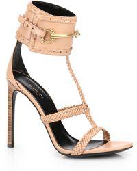 Gucci Ursula Horsebit Braided Sandals - Lyst