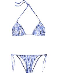 Proenza Schouler Tie Dye Triangle Bikini - Lyst