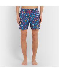 Limoland - Mid-Length Printed Swim Shorts - Lyst