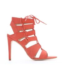 DV by Dolce Vita Coral Leather Strappy 'Tyler' Lace-Up Stilettos pink - Lyst