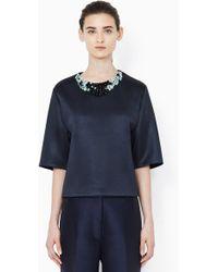 3.1 Phillip Lim Oversized Shirt With Embellished Neckline - Lyst