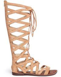 Sam Edelman | 'gena' Lace-up Suede Gladiator Sandals | Lyst