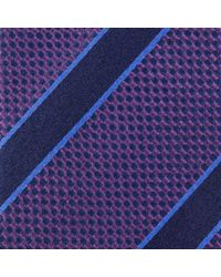 Paul Costelloe - Oxford Stripe Silk Tie - Lyst