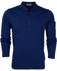 Stone Island Long Sleeve Polo Jersey Top - Lyst