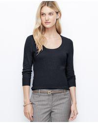 Ann Taylor Ribbed Waist Sweater - Lyst