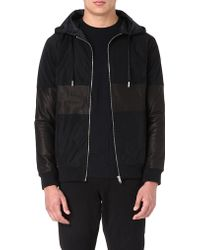Blood Brother Leatherdetail Hooded Jacket Black - Lyst