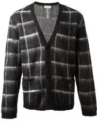 Saint Laurent Black Knit Cardigan - Lyst