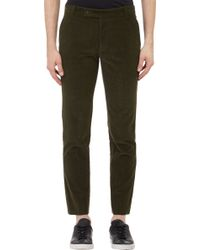 Brooklyn Tailors Green Corduroy Trousers - Lyst