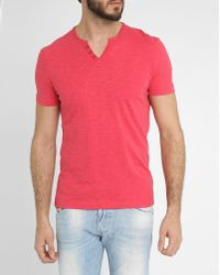 Harris Wilson Grenade Button-Neck Cotton-Jersey T-Shirt - Lyst