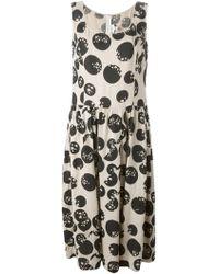 Comme des Garçons Dot And Star Print Dress beige - Lyst