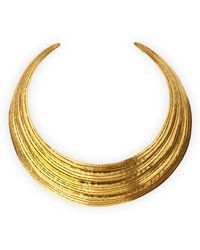 Herve Van Der Straeten   Salome Gold Collar Necklace   Lyst