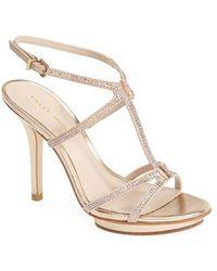 Pelle Moda 'Randal' Crystal Embellished Sandal - Lyst