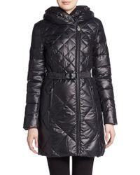 Elie Tahari Amsterdam Leather-Trimmed Puffer Coat - Lyst
