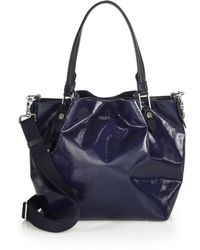 Tod's | Flower Mini Coated Canvas Tote | Lyst