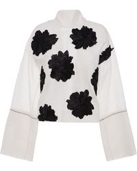 Marni Cotton Silk Toile Long Sleeve Crew Neck Shirt - Lyst