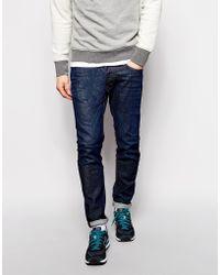 Diesel Jeans Tepphar Skinny Fit 837N Stretch Dark 3D Rinse - Lyst