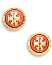 Tory Burch Melodie Stud Earring - Lyst
