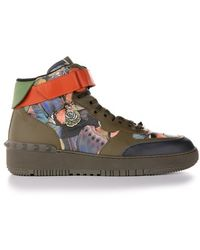 Valentino Green Camubutterfly High Top Sneakers - Lyst