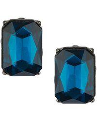 Topshop Premium Blue Rhinestone Studs  Blue - Lyst