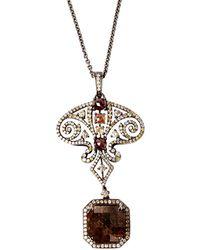 Bochic - Ornate Diamond 18Kt Gold Necklace - Lyst