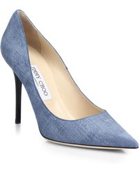 Jimmy Choo Abel Pointed Denim Pumps - Lyst