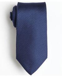 Ferragamo Navy Blue Textured Silk Tie - Lyst