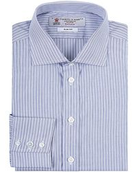 Turnbull & Asser Fine Stripe Shirt blue - Lyst