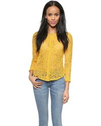 Roseanna Victor Lace Top - Yellow - Lyst