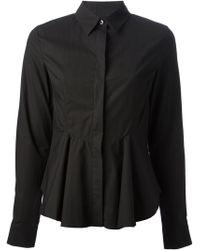 McQ by Alexander McQueen Peplum Shirt - Lyst