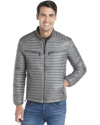 Marc New York Gunmetal Channel Quilted Nylon Down Filled 'Jack' Lightweight Jacket - Lyst