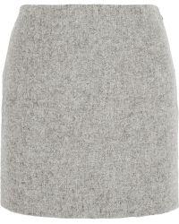 Atto - Wool Mini Skirt - Lyst